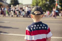 Free Kids Watching An Independence Day Parade Stock Photography - 74829062