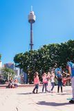Kids watching bubbles in the park, Sydney, Australia Royalty Free Stock Images