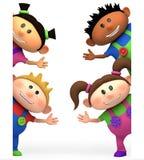 Kids waving royalty free stock image