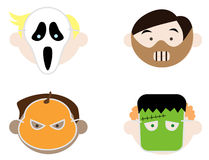Kids Wearing Halloween Masks Royalty Free Stock Photography