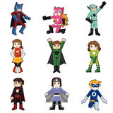 Kids Wearing Superheroes Costume Stock Photos
