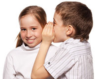 Kids whispers Royalty Free Stock Photos
