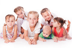 Kids on white Stock Photography
