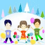 Kids and winter Stock Photos
