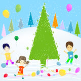 Kids and winter Stock Photo