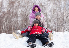 Kids in winter Royalty Free Stock Photo