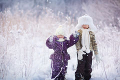 Kids in winter Royalty Free Stock Photos