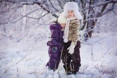 Kids in winter Stock Photos