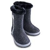 Kids winter felt boots Royalty Free Stock Images