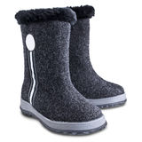 Kids winter felt boots Stock Photos