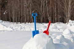 Kids winter play Royalty Free Stock Image