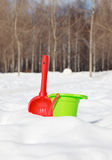 Kids winter play Royalty Free Stock Image