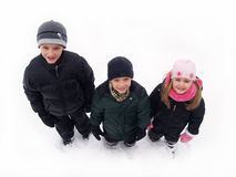 Kids in winter snow Royalty Free Stock Photo