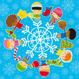 Kids With Christmas Elements Royalty Free Stock Photo