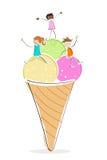 Kids With Ice Cream Royalty Free Stock Photo