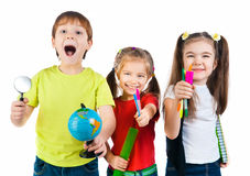 Free Kids With Notebook And Globe Royalty Free Stock Photography - 22867957