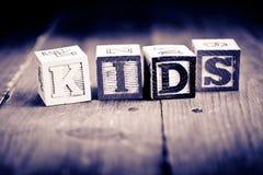 Kids wood blocks Stock Photography