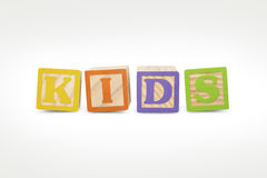 Kids Wooden Blocks Stock Images