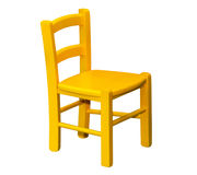 Kids wooden chair royalty free stock photo