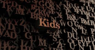 Kids - Wooden 3D rendered letters/message Stock Photos