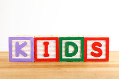 KIDS wooden toy block Royalty Free Stock Photography