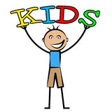 Kids Word Indicates Son Youth And Child. Kids Word Representing Youngsters Toddlers And Son Royalty Free Stock Image