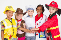 Kids workers teamwork Royalty Free Stock Photos