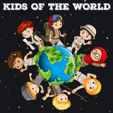 Kids of the world Royalty Free Stock Photos
