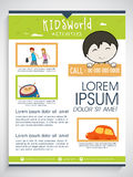 Kids World template, banner or flyer design. Stock Photography