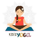 Kids yoga icon Royalty Free Stock Photography