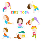Kids' Yoga Set Stock Photos