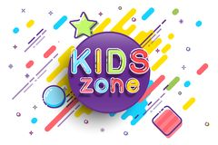 Kids Zone banner template. Vector colorfull illustration. Kids Zone banner template. Vector colorfull illustration Royalty Free Stock Photography