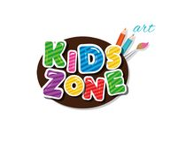 Kids zone cartoon icon. For playroom, education, logo. Kids zone cartoon icon. For playroom, education, logo Vector royalty free illustration
