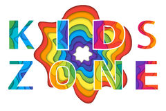 Kids zone  lettering Stock Photography