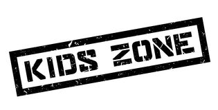Kids Zone rubber stamp Stock Image