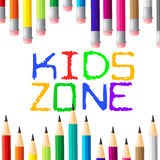 Kids Zone Shows Social Club And Apply Royalty Free Stock Images