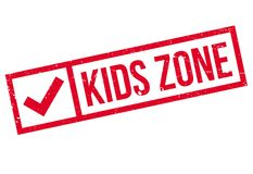 Kids zone stamp Royalty Free Stock Photography