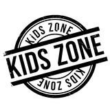 Kids zone stamp. Grunge design with dust scratches. Effects can be easily removed for a clean, crisp look. Color is easily changed Royalty Free Stock Image
