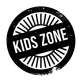 Kids zone stamp Royalty Free Stock Image