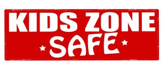 Kids zone. Stamp with text kids zone inside,  illustration Stock Images