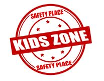 Kids zone. Stamp with text kids zone inside,  illustration Royalty Free Stock Image