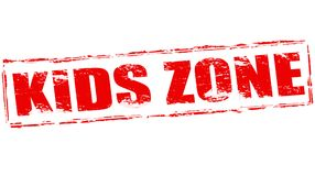 Kids zone. Stamp with text kids zone inside,  illustration Royalty Free Stock Images