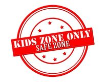 Kids zone. Stamp with text kids zone inside,  illustration Stock Photography