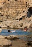 KidsSwimming river Hat Chom Dao ,Grand Canyon ,UBON RATCHATHANI,THAILAND. Royalty Free Stock Image