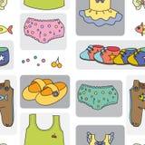 Kidswear. Illustration of kidswear on a white background Stock Image