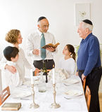 Kidush. Friday evening Jewish family celebration Royalty Free Stock Images
