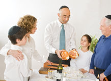 Kidush. Friday evening Jewish family celebration Royalty Free Stock Photography