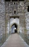 Kidwelly城堡入口 免版税库存照片