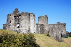 Kidwelly-Schloss, Kidwelly, Carmarthenshire, Wales Lizenzfreie Stockfotos