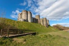 Kidwelly slott södra Wales Royaltyfria Bilder